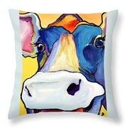 Dairy Queen I   Throw Pillow by Pat Saunders-White