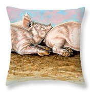 Daisy Chain Throw Pillow by Richard De Wolfe