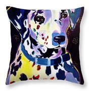 Dalmatian - Dottie Throw Pillow by Alicia VanNoy Call
