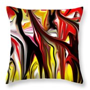 Dance Of The Sugar Plum Faries Throw Pillow by David Lane