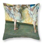 Dancers at the bar Throw Pillow by Edgar Degas