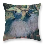 Dancers In Violet  Throw Pillow by Edgar Degas