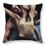 Dancers Of The Inbal Troupe Meld Yemeni Throw Pillow by James L. Stanfield