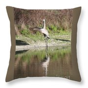 Dancing On The Pond Throw Pillow by Carol Groenen