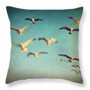 Dans Avec Les Oiseaux Throw Pillow by Taylan Apukovska