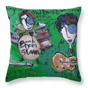 Davy Knowles And Back Door Slam Throw Pillow by Laurie Maves ART