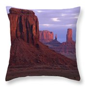 Dawn At Monument Valley Throw Pillow by Sandra Bronstein