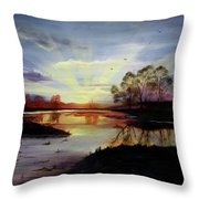 Dawn Throw Pillow by Jane Autry