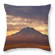 Dawn Mist About Mount Rainier Throw Pillow by Sean Griffin