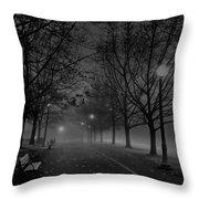 December Morning In Riverfront Park - Spokane Washington Throw Pillow by Daniel Hagerman
