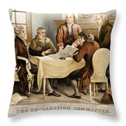 Declaration Committee 1776 Throw Pillow by Photo Researchers