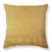 Declaration Of Independence Throw Pillow by American School
