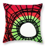 Deep In The Disturbance There May Be Light Throw Pillow by Oliver Johnston