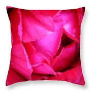 Deep Inside The Rose Throw Pillow by Kristin Elmquist