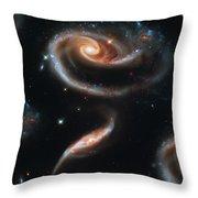 Deep Space Galaxy Throw Pillow by The  Vault - Jennifer Rondinelli Reilly