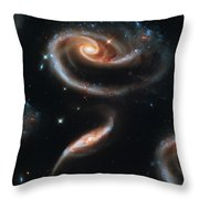 Deep Space Galaxy Throw Pillow by The  Vault - Jennifer Rondinelli Reilly