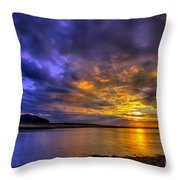 Deganwy Sunset Throw Pillow by Adrian Evans