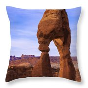 Delicate Landmark Throw Pillow by Chad Dutson