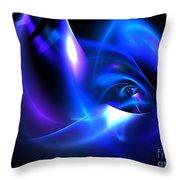 Delphinium Throw Pillow by Kim Sy Ok