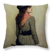 Denise Throw Pillow by Herbert Schmalz
