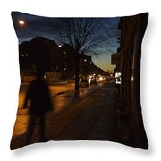 Denmark, Copenhagen, Man Walking Throw Pillow by Keenpress