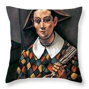 Derain: Harlequin, 1919 Throw Pillow by Granger