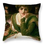 Desdemona Throw Pillow by Frederic Leighton