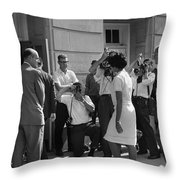 DESEGREGATION, 1963 Throw Pillow by Granger