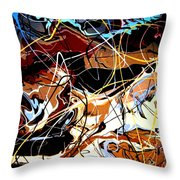 Desert Canyon Part I Throw Pillow by Eric Moore