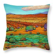 Desert Day Throw Pillow by Johnathan Harris