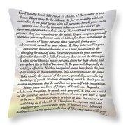 Desiderata 8 Throw Pillow by Desiderata Gallery