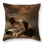 Desolation Throw Pillow by Mary Hood