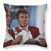 Desperation In His Eyes Throw Pillow by Kim Lockman