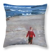 Dever Throw Pillow by Paula Pagliughi