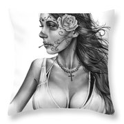 Dia De Los Muertos 1 Throw Pillow by Pete Tapang