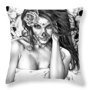 Dia De Los Muertos 2 Throw Pillow by Pete Tapang