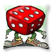 Dice Throw Pillow by Kevin Middleton