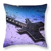 Digital-Art E-Guitar II Throw Pillow by Melanie Viola