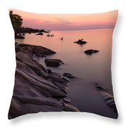 Dimming Of The Day Throw Pillow by Mary Amerman