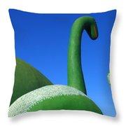 Dinosaur Walk  Throw Pillow by Mike McGlothlen
