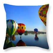 Dip And Go Throw Pillow by Mike  Dawson