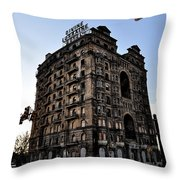 Divine Lorraine Hotel Throw Pillow by Bill Cannon