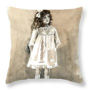 Do I Have To Wear A Dress Throw Pillow by Arline Wagner