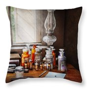 Doctor - The Doctor Is In Throw Pillow by Mike Savad