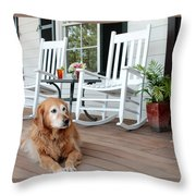 Dog Days Of Summer Throw Pillow by Toni Hopper