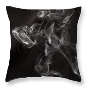 Dog Smoke Throw Pillow by Garry Gay