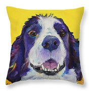 Dolly Throw Pillow by Pat Saunders-White