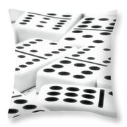 Dominoes I Throw Pillow by Tom Mc Nemar