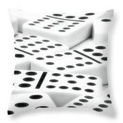 Dominoes II Throw Pillow by Tom Mc Nemar
