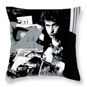Dont Look Back Throw Pillow by Luis Ludzska